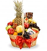 Food & Fruit Baskets: Connoisseur Fruit and Gourmet Basket