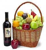 Wine & Fruit Baskets: The California Classic